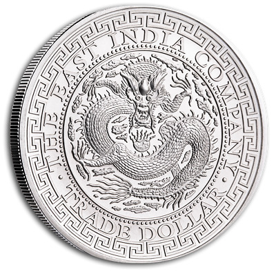 SAINTE HELENE 1 Pound Argent 1 Once Trade Dollar Chinois 2019
