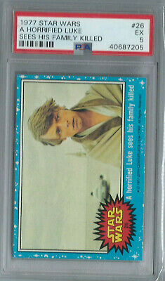 Star Wars - Series 1 (Blue) Trading Card # 26 - Topps 1977 - PSA Graded - EX 5
