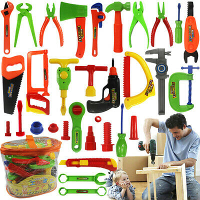 Kids Pretend Play Toy Tool Set Hammer Screw driver Repair Tools Educational Kit