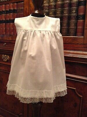 Vintage White Cotton Rob Roy Baby Dress - Approx 12 Months
