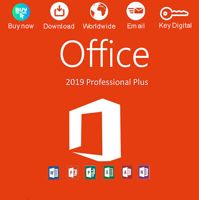 Office 2019 Pro Plus 32/64 Bit Dowload License For 1 PC Activation Genuine