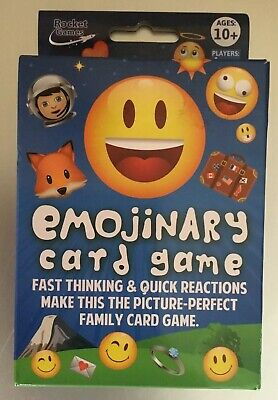 Party Emojinary Card Game The Picture-Perfect Family Game Board ROC1433