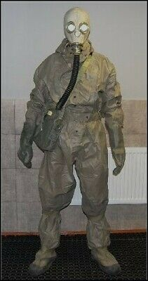Cherobyl  Nbc Hazmat Suit Radiation  Chemical Surplus Gs Mask Fallout
