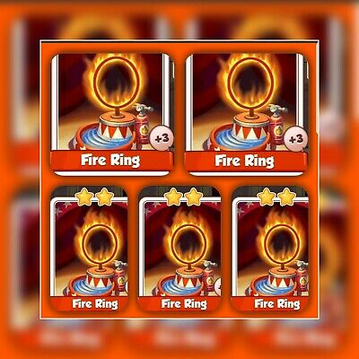 5x Fire Rings :- Coin Master Cards ( Fastest Delivery )