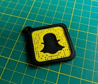 Personal Snapchat Snapcode 3D Printed Keychain