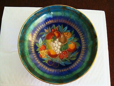 Early 20th century Mintons hand painted fruit lustre bowl