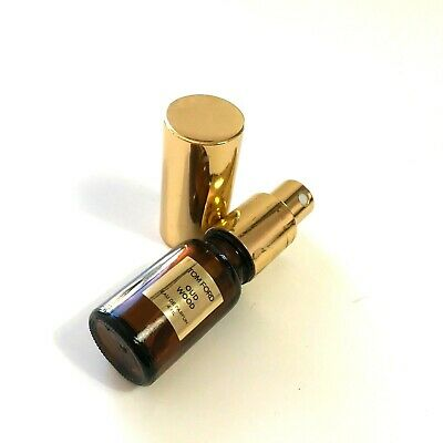 TOM FORD 6ml Gold Brown Metal Glass High Quality Spray Atomizer Choose Fragrance