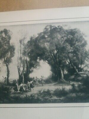 """1979 Vintage COROT /""""WINDSWEPT LANDSCAPE/"""" LOVELY PANORAMA COLOR Offset Lithograph"""