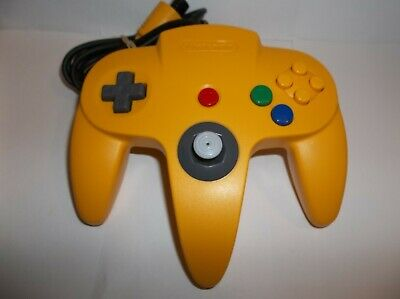 Original OEM Nintendo 64 N64 YELLOW Controller Clean Tested Working Tight Stick