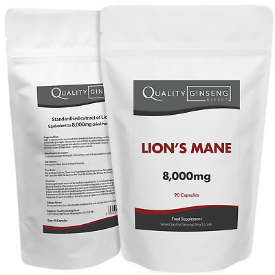 LIONS MANE - 3,750mg Capsules - Powerful Formula Best Quality on Ebay