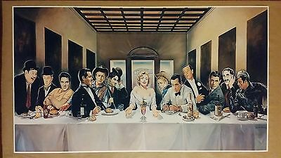"""Hollywood Last Supper GIANT WIDESCREEN 24"""" x 42"""" Movie Poster Marilyn Elvis"""