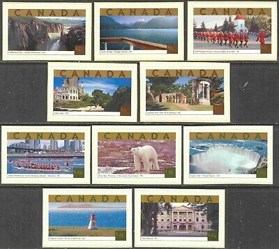 2003 Canada #1989 & 1990a-e Complete Self-Adhesive Set of 10 Tourist Attractions