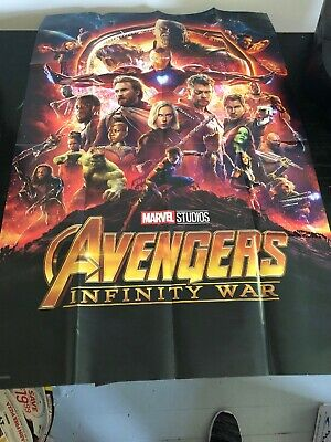 Avengers INFINITY WAR Movie Poster Size 24x36 Folded