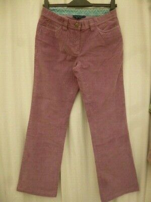 12 R Boden 28 30 waist 30 inside leg straight pink cord corduroy jeans trousers