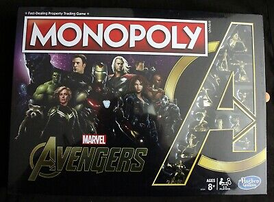 Monopoly: Marvel Avengers Edition Board Game for Ages 8 and Up; Gold Figures