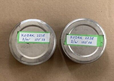 SALE! RARE! Vintage KODAK 2238 FILM 35mm 200' ft Panchromatic B&W, Two Cans 100'