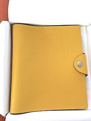 Auth. Hermès  Yellow Ulysse Pm Notebook Cover