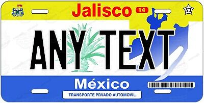Jalisco Mexico 2002-10 Any Text Personalized Novelty Auto Car License Plate bike