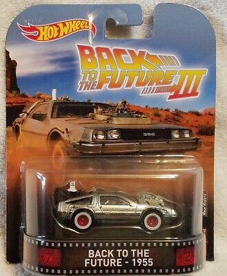 Hot Wheels Retro Back To The Future 111 - 1955 Delorean Time Machine Scale 1/64
