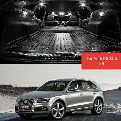 Kit Led Interni Audi Q5 Sq5 8R Completo Canbus White No Error + Luci Targa