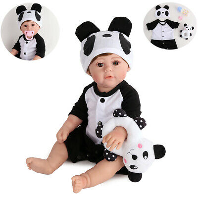"""Waterproof 17"""" Full Body Silicone Reborn Baby Doll Realistic Girl Doll Gifts Toy"""