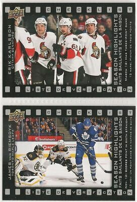 2015-16 UD Tim Hortons Season Highlights/CL Lot of 2 - SH-4 & SH-5 - NRMT