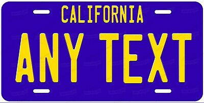 California 1980 Style Any Text Personalized Novelty Auto Car License Plate ATV