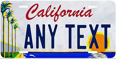 California Art Style Any Text Personalized Novelty Auto Car License Plate ATV