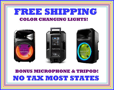 Total PA System Bluetooth Wireless Portable Speaker Lights ION Audio Ultra Plus