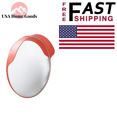 Indoor/Outdoor Round Convex Safety Mirror24 in. with Shatter Resistant Lens