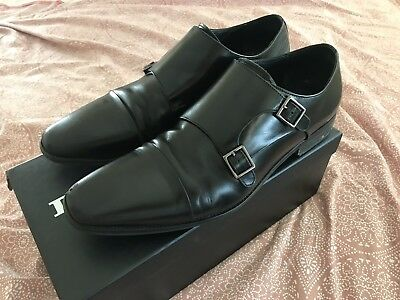 733c8244faa29 MENS BLACK LEATHER Dune Chisel Buckle Shoes Uk Size 11 Rrp £100 ...