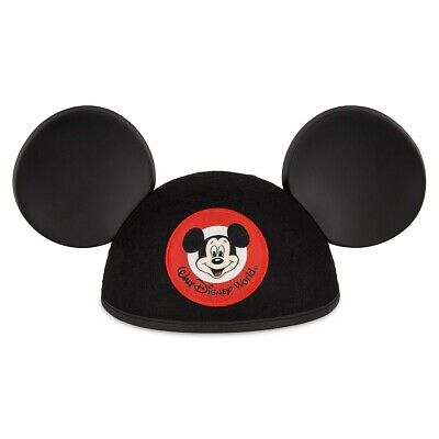 Walt Disney World Mickey Mouse Mouseketeer Classic Ear Hat Black NEW Adult