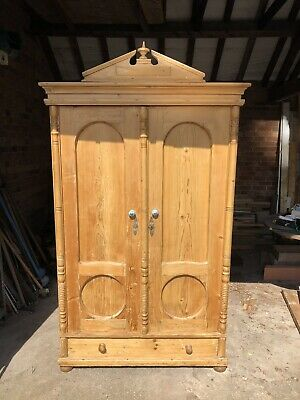 Lovely  Solid Antique Pine Wardrobe