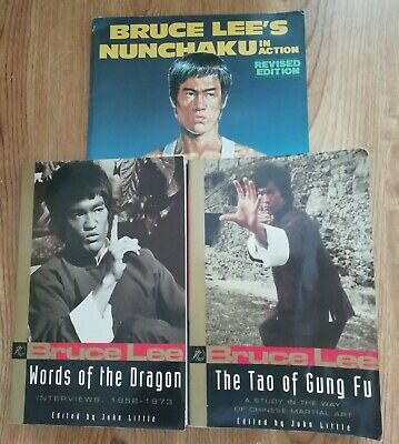 Bruce Lee Words of the Dragon/The Tao of Gun Fu & Magazine Bruce Lee's Nunchaku