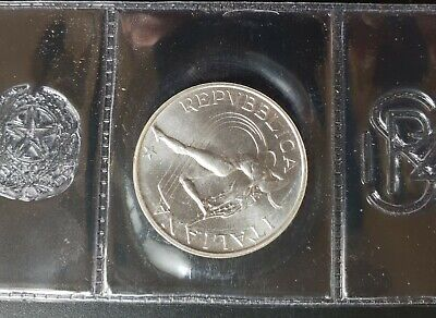 1987 500 Lire Italy Athletics World Cup, Silver..In Mint Seal...
