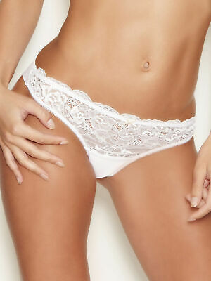 Ann Summers Brazilian Knickers Size 24 New with Tags Sexy Lace Range White EU 50