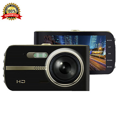 """Front and Rear Dash Cam 1080P 4"""" Car Dual Camera Vehicle Recorder 2 Channel NEW"""