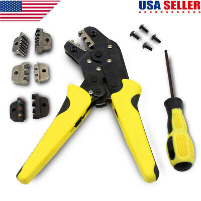 Professional Insulated Wire Terminals Connector Ratcheting Crimper Tool 26-10AWG