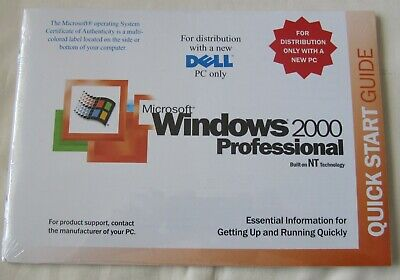 *New* Original Package Microsoft Ms Windows 2000 Professional Disc