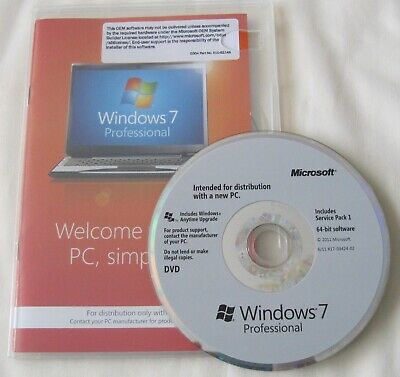 Genuine Windows 7 Professional  64bit DVD Product Key Full OEM Version