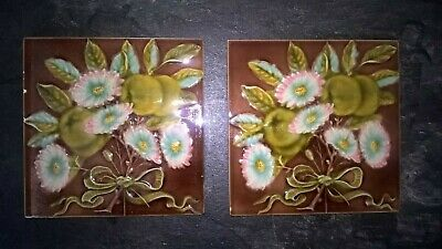 "2 fireplace Tiles.   stock item tiles WW555  each tile is 6"" x 6"""
