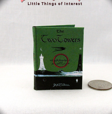 1:6 Scale THE TWO TOWERS ILLUSTRATED J.r.r. TOLKIEN Miniature Book Play scale