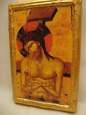 Jesus Christ Deposition Byzantine Greek  Eastern Orthodox Icon