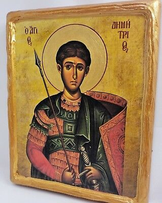 Saint Demeter Agios Dimitrios Rare Mount Athos Greek Orthodox Byzantine Icon