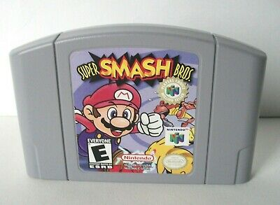 Super Smash Bros (Nintendo 64 N64) Authentic Label Wear Fighting Game Brothers