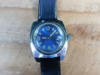 Vintage Timex Manual Wind Silver tone watch with new band