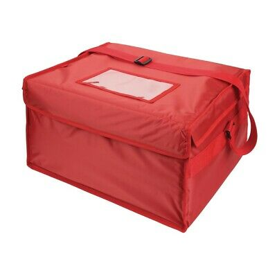 Vogue Insulated Nylon Heater Food Delivery Bag-Red-New