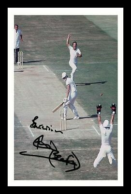 Ian Botham Autographed Signed Framed Pp Poster Photo