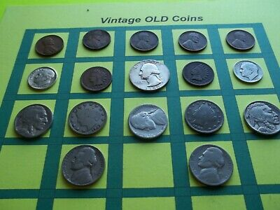 Estate Lot of Old Coins 50 to 125 Years Old with Some Silver  16 Coins  (OC4)