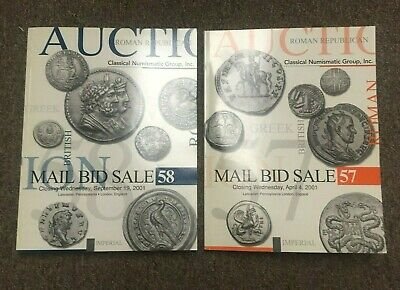 Lot of 2 CLASSICAL NUMISMATIC GROUP CNG AUCTION CATALOGS for 2001